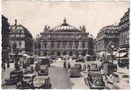 Paris: PEUGEOT 401, 402, 201 FOURGONNETTE, CITROËN TRACTION AVANT, RENAULT NOVAQUATRE, PRIMAQUATRE, SIMCA 8 - L'Opéra - Toerisme