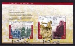 Australia 2000 Towards Federation Minisheet Used - Used Stamps