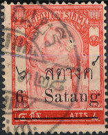Stamp Thailand 1909 6s On 4a  Used Lot#110 - Thailand