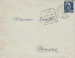 """1955- Enveloppe De EAUZE ( Gers )  DAGUIN  """" EAUZE / FOIRE AUX / ARMAGNACS / DEBUT JUIN """" - 1921-1960: Modern Tijdperk"""