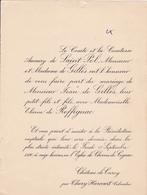 CHATEAU DE CURCY PAR THURY HARCOURT CALVADOS  -  FAIRE PART DE MARIAGE DE MONSIEUR JEAN DE GILLES 1936 - Wedding