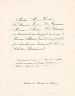CHATEAU DE RAISSAC PAR BEZIERS  -  FAIRE PART DE MARIAGE DE MONSIEUR MAURICE VIEULES 1930 - Wedding