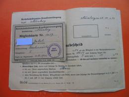 2.world War.Deutsche Reichsbahn.Nurnberg,Villach,Zirovnica-3 X Documents - Titres De Transport