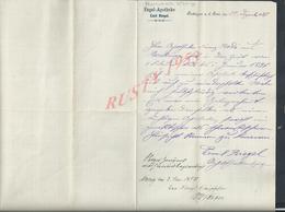 ALLEMAGNE LETTRE COMMERCIALE DE 1897 EMIL RIEGEL ENGEL APOTHEKE ( PHARMACIE D ANGE ) À BECKINGEN A D SAAR DEN : - Allemagne
