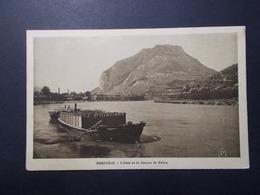 Carte Postale -  GRENOBLE (38) - L'Isére Et Le Casque De Néron - Bâteau Le Poincaré - (2524) - Grenoble
