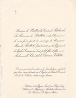 CHATEAU DE LA PEYSSE - CHATEAU DE MEPIEU PAR MONTALIEU VERCIEU  -  FAIRE PART MARIAGE DE Mr MARC DE BUTTET 1933 - Wedding