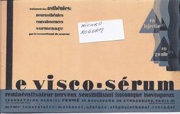 Buvard VISCO-SERUM Du Laboratoire Gabriel FERME à PARIS 10ème - 330119 - Non Classés