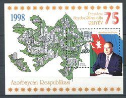 242 AZERBAIDJAN 1998 - Yvert BF 41 - Carte President - Neuf ** (MNH) Sans Trace De Charniere - Azerbaïdjan