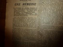 1908 LE PETIT JOURNAL: Les Femmes Héroïnes (Antoinette Lix Lieutenant Des Francs-tireurs Et Tony à Nompatelize) ; Etc - Journaux - Quotidiens