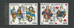 2018 ZNr 1699-1702 Deux Paires De Se Tenant OBLITÉRATION DE LUXE (1901) - Switzerland