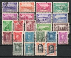 Irán. 1943 - 46. Imperio. Sellos Ordinarios. Monumentos Y Mohamed Riza. - Irán