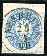 """Nr. 27 Zentrischer Vollstempel """"INNSBRUCK"""" Briefstück - 1850-1918 Imperium"""