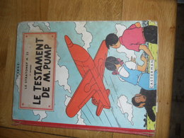 JO, ZETTE ET JOCKO - LE STRATONEF H.22 - LE TESTAMENT DE M.PUMP - CASTERMAN -  EO 1951 ( Type B5) - Hergé
