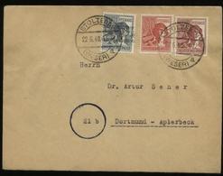 S1725 Bi. Zone , Brief Teil Zehnfach ,gebraucht Stolzenau - Dortmund 22.6.1948. Bedarfserhaltung. - Zone Anglo-Américaine
