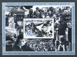 242 AZERBAIDJAN 2001 - Yvert BF 51 - Camp De Refugies - Neuf ** (MNH) Sans Trace De Charniere - Azerbaïdjan