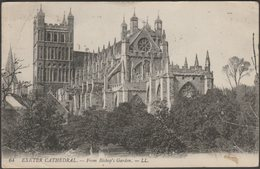 Exeter Cathedral From Bishop's Garden, Devon, 1918 - Lévy Postcard LL64 - Exeter