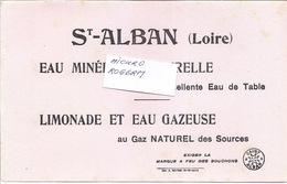 Buvard St ALBAN (Loire) EAU Minérale Et Limonade - 340119 - Buvards, Protège-cahiers Illustrés