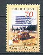 242 AZERBAIDJAN 2002 - Yvert 446 - Batiment Embleme Telegraphe - Neuf ** (MNH) Sans Trace De Charniere - Azerbaïdjan