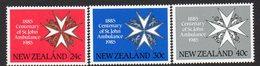 NEW ZEALAND, 1985 ST JOHN'S 3 MNH - New Zealand