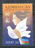 242 AZERBAIDJAN 2002 - Yvert 452 - UNIFEM Colombe Drapeau - Neuf ** (MNH) Sans Trace De Charniere - Azerbaïdjan