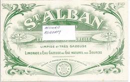 Buvard St ALBAN (Loire) EAU Minérale Et Limonade - 350119 - Buvards, Protège-cahiers Illustrés