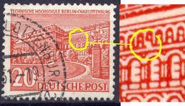 Berlin West Nr.49 I    O  Used     (987) Plattenfehler Fenster Der Oberen Fensterreihe Unter H Ausgebrochen - [5] Berlin