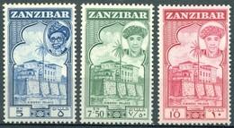 Zanzibar - 1961 - Yt 253/255 - Sultan Sir Abdullah Ben Khalifa - * Charnière - Zanzibar (...-1963)