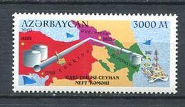 242 AZERBAIDJAN 2003 - Yvert 464 - Plate Forme Petroliere Carte Navire - Neuf ** (MNH) Sans Trace De Charniere - Azerbaïdjan