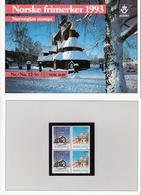 Norway Norge 1993 Christmas Churches, Mi 1141-1142 X 2 In Folder MNH(**) - Norvège