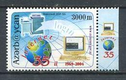 242 AZERBAIDJAN 2004 - Yvert 506 - Internet Globe Terrestre Ordinateur - Neuf ** (MNH) Sans Trace De Charniere - Azerbaïdjan