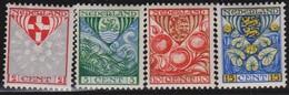 Nederland      .    NVPH    .   199/202     .   *     .      Ongebruikt      .   /   .  Mint-hinged - Periode 1891-1948 (Wilhelmina)