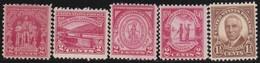 USA      .    Yvert      .   5  Stamps     .       *     .      Ongebruikt      .   /   .  Mint-hinged - Vereinigte Staaten