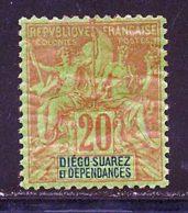 Diego-Suarez 1892 Yvert 31 * B Charniere(s) - Nuevos