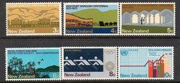 NEW ZEALAND, 1973 ANNIVERSARIES 6 MNH - New Zealand