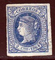 Espagne 1864 Yvert 59 (o) B Oblitere(s) - 1850-68 Königreich: Isabella II.