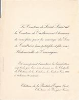 CHATEAU DE LA BASTIDE D ENGRAS GARD - CHATEAU DE GAUJAC GARD - FAIRE PART MARIAGE DU DUC DE CASTRIES 1934 - Wedding