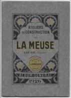 Album 1926 Ateliers Construction De La Meuse Liège (Sclessin)  Locomotives Locomotive Machines Vapeur Mines Métallurgie - Chemin De Fer & Tramway