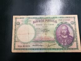 Portugal PAPEL NOTA 20$00  CH 6 26 JUNHO 1951 - Portugal