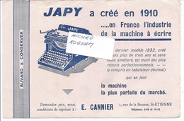 Buvard Machine à Ecrire JAPY - E. CANNIER à St ETIENNE 42 --- 360119 - Non Classés