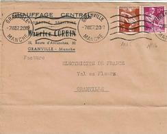 TP N° 1115  Et 1116 Sur  Enveloppe De L'Entreprise Corbin De Granville - Marcophilie (Lettres)