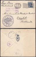 """Belgique 14/18 - 1917 - Italie Yv79 Obl Rome 15/03/17 Grand Cachet Illustré """" Légation De Belgique En Italie (DD) DC1350 - Guerre 14-18"""