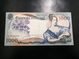 Portugal PAPEL NOTA 1000$00 CH 10 19 MAIO 1967 - Portugal