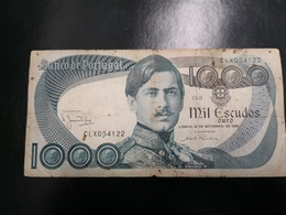 Portugal PAPEL NOTA 1000$00 CH 11 16 SETEMBRO 1980 - Portugal