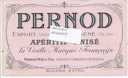 Buvard - Apéritif ANISE - PERNOD à AVIGNON, CHARENTON Et BORDEAUX - 370119 - Non Classés