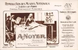EDITIONS  A.NOYER - Editions Photographiques 22 Rue Ravignan - 48,rue Berthe,Paris Carte Publicitaire - Advertising