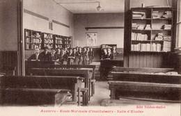 AUXERRE -- Ecole Normale D'Instituteurs -Lot De 4 Cpa -Salle D'étude,Dortoir,Bosquet,Bibliotheque - Auxerre