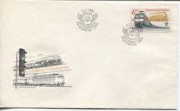 CSSR # 2657 FDC. Internationale Eisenbahnunion UIC Lokomotiven. Ersttagssonderstempel. - FDC
