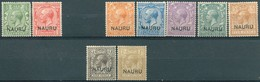 Nauru - 1916/1923 - Ttimbres GB Surchargés - Yt 1/2 + 4/8 + 10/11 - Neufs Charnière - Nauru