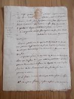 FISCAL FISCAUX Dimension Acte 4 Sols DORDOGNE 1796 SARLAT 24 PRAIRIAL AN IV Timbre Rouge Mariage Contrat - Revenue Stamps