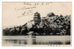CPA  Chine China Summer Palace Palais D' été à Pékin Peking écrite 1916 - Chine